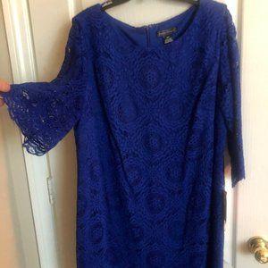 Jessica Howard Lace Cobalt Blue Dress